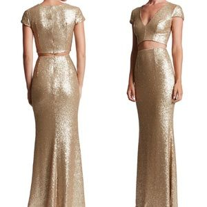 NEW Dress The Population Cara sequin gown